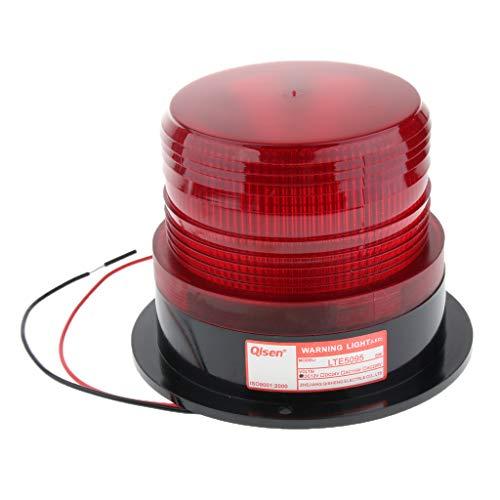FLAMEER 12V Voyant d'Alarme Stroboscopique Lampe d'Avertissement Clignotante avec Vert/Bleu/Rouge au Choix - Rouge