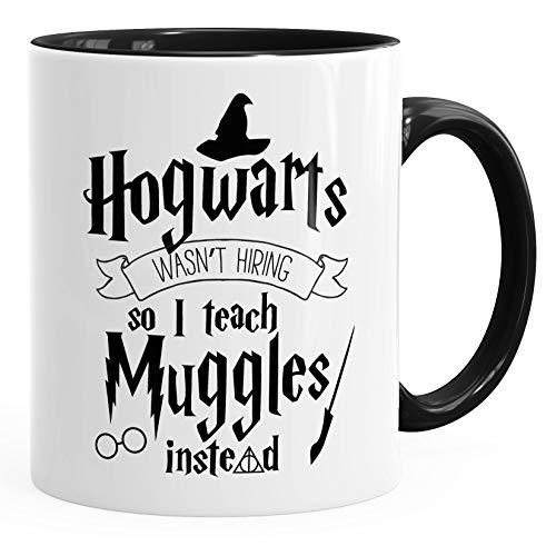 MoonWorks Tasse Hogwarts Wasn\'t Hiring so I Teach Muggles Instead Kaffeetasse Teetasse Keramiktasse schwarz Unisize