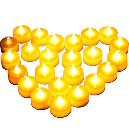 [Neuer Stil] 24 LED Kerzen, Diyife LED Flammenlose Tealights, Flackern elektrische Kerze Lichter Dekoration für Weihnachten, Weihnachtsbaum, Ostern, Hochzeit, Party [Batterien enthalten]
