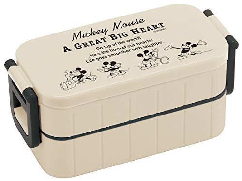 Skaters Disney YZW3 Boîte à Repas 2 étapes Motif Mickey Tiahuru Fabriqué au Japon 600 ML
