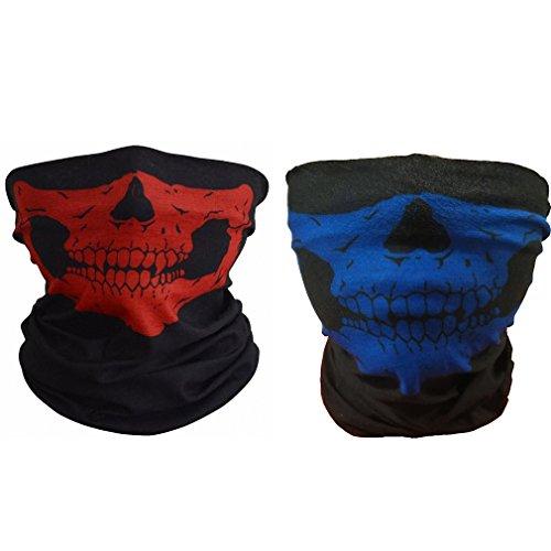 ToBe-U Nahtlose Multifunktions-Half Face Skull Tube Maske für ()