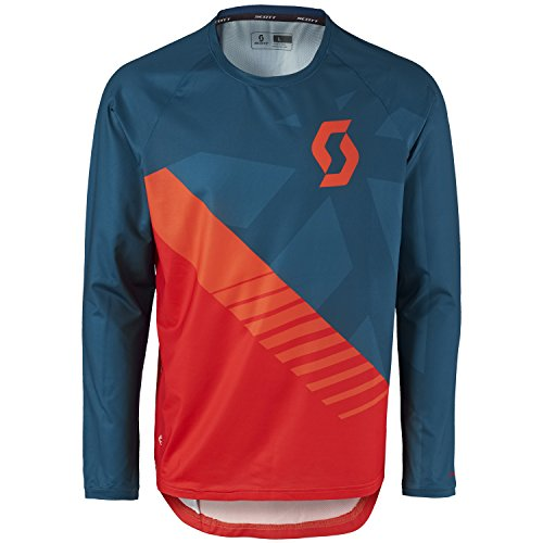 SCOTT TRAIL 20 – CAMISETA DE CICLISMO LARGO AZUL/ROJO 2017  COLOR ECLIPSE BLUE/FIERY RED  TAMAÑO L (50/52)
