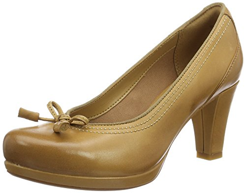 Clarks Chorus Bombay, Escarpins Femme Marron (Light Tan Lea)
