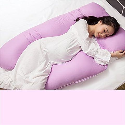 multifunción cómodo masaje lumbar Las mujeres embarazadas almohada En forma de U almohada Cuerpo Almohada corporal Las almohadas sheeping cojín de lactancia lado a dormir almohada El embarazo Maternidad Mujeres embarazadas Almohada para dormir y relajarse ( Color : Purple