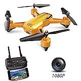ScharkSpark Drohne SS40 – The Wasp - Drohne mit 1080 p 120° FPV HD-Kamera/Video, der RC TOY Quadcopter ist mit G-SENSOR-Technologie, Stimmsteuerung, voreingestellte Flugstrecke