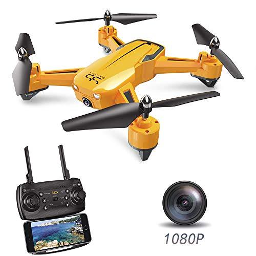 ScharkSpark Drohne SS40 - The Wasp - Drohne mit 1080 p 120° FPV HD-Kamera/Video, der RC TOY Quadcopter ist mit G-SENSOR-Technologie, Stimmsteuerung, voreingestellte Flugstrecke 1080-hd-kamera