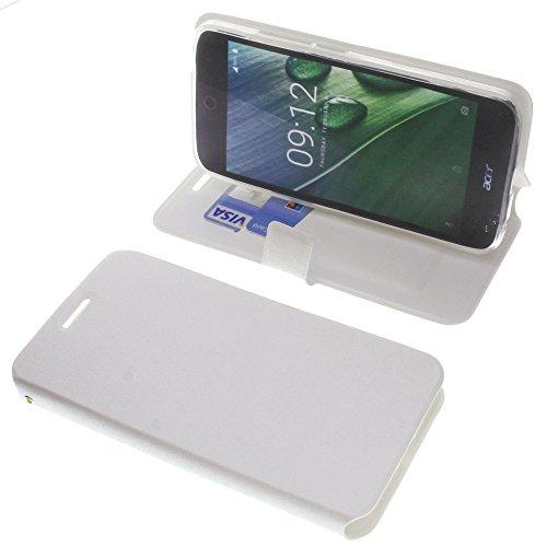 foto-kontor Tasche für Acer Liquid Zest Plus Book Style weiß Schutz Hülle Buch
