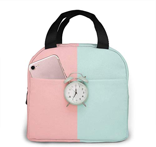 l6shop pranzo al sacco portatile isolato simple color contrast art - alarm clock portable insulated lunch bag workers students simple and elegant portable insulation lunch bag