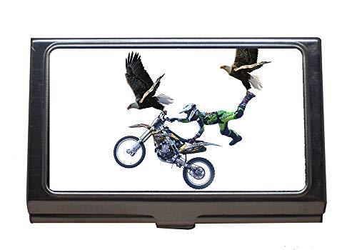 Edelstahl Visitenkartenhalter Motorrad Eagle Cross Jump Tiere Ungewöhnlich Visitenkarten Etui Für Männer Und Frauen