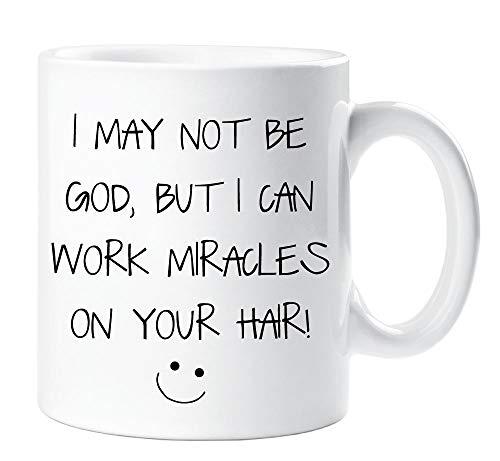 Peluquería Taza Miracles Divertido Taza Regalo I puede no ser God
