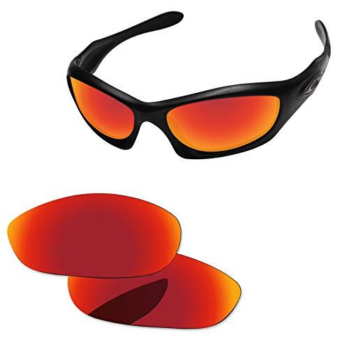 Neue Marke polalized Ersatz-Objektive für Oakley Monster Dog Sonnenbrille Eiche & Ban mehrere Farbe Optionen K006, Fire Red-Polarized