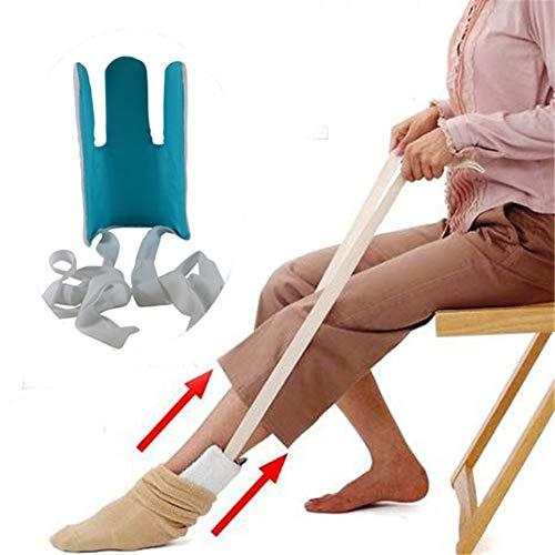 WLIXZ Tragen Sie Socken Assister, Lebenshilfen, Anziehhilfe für ältere Menschen, Behinderte und Behinderte