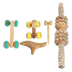 Wooden Health Massager Wooden Roller Massager Gesundheit Reflexzonenmassage Abdominal Body Pressure Relief Scraping 6 Arten6