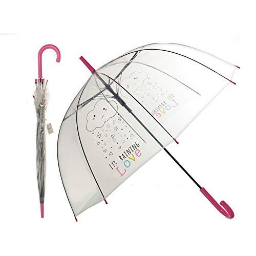 Paraguas burbuja transparente original frase motivadora