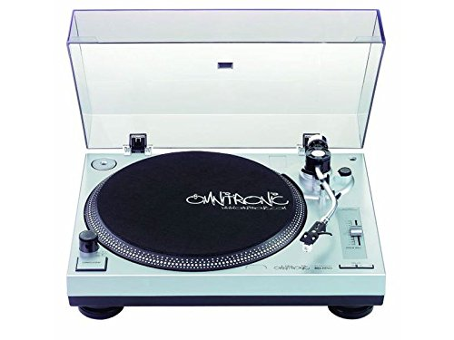 Omnitronic BD-1350 Plattenspieler (8 Watt) silber