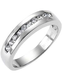 ZEEme Stainless Steel Ring mit 10 Kristallen 389070007