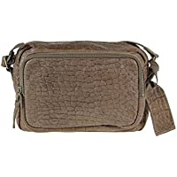 borsa tracolla in pelle Cowboysbag Amsterdam Mossoro rettili design grigio