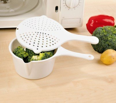Dampfgartopf Dampfgarer mit Deckel für die Mikrowelle Gesund kochen