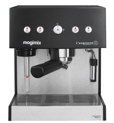 Magimix Expresso Automatic exprimé Machine 1,8 l black, Stainless Steel – Coffee Makers (exprimé Machine, Black, Stainless Steel, GROUND Coffee, Coffee, 250 x 240 x 300 mm, exprimé)