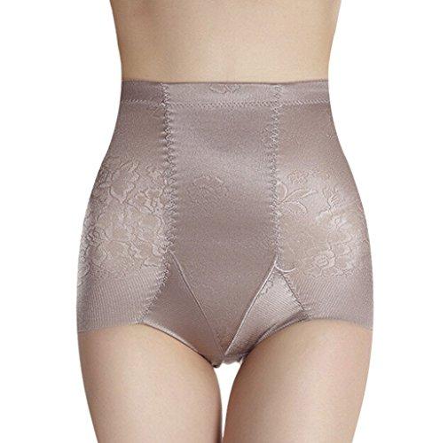 TININNA Damen Miederslip Miederhose Bauch-weg-Effekt Figurformend Taillenslips Mieder Unterwäsche Miederpants Shapewear XXL grau