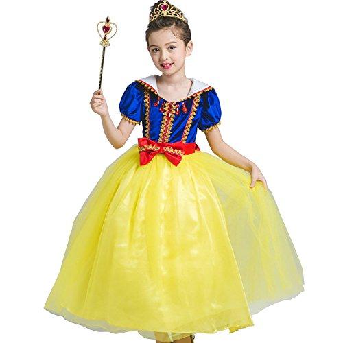 Kleine Mädchen Prinzessin Schneewittchen Kostüm Kleid,Fanryn Schneewittchen Halloween Cosplay Geburtstag Party Kleid Fancy Kleid Mädchen Kinder Kleid Halloween Damen (Superheld 0 Kostüm Monat 3)