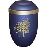 Urns UK árbol de cremación Cenizas biodegradables, Materiales Orgánicos, Azul, 19x 19x 31cm