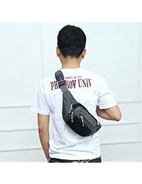 Fashion Multi-function Men Outdoor Sports Running Adjustable Breathable Waist Bag (Black)