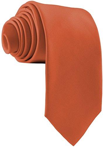 ADAMANT Herren Krawatte Klassische Form Rost 7cm Breit