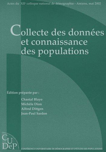 Collecte des donnes et connaissance des populations : 12e colloque national