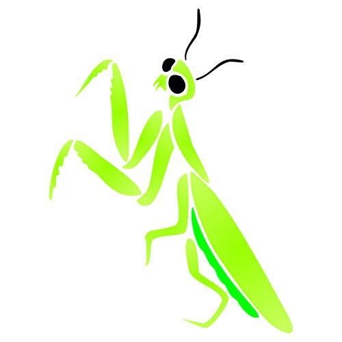 rezando-mantis-stencil-tamano-75-x-9-cm-reutilizable-de-pared-plantillas-para-pintar-mejor-calidad-i