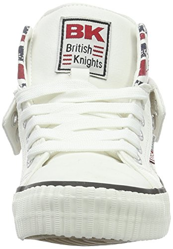 British Knights Roco Unisex-Kinder Basketball hoch Blanc (white/union Jack)