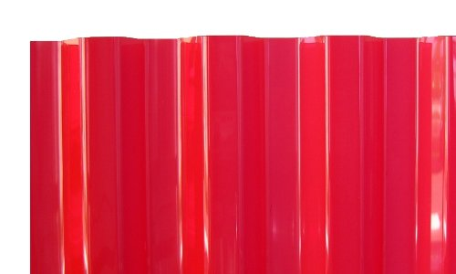 PVC Wellplatten Profilplatten Trapez 70/18 rot transparent ohne Struktur 2000 x 1090 mm
