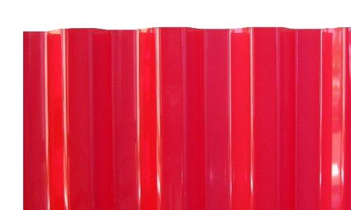 PVC Wellplatten Profilplatten Trapez 70/18 rot transparent ohne Struktur 2000 x 1090 mm
