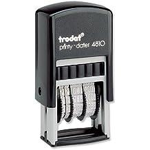 Trodat Printy 4810 70169 - Sello autoentintable fechador (20 x 3,8 mm), color negro