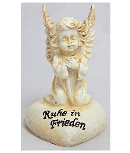 Gedenkstein betender Engel Spruch Ruhe in Frieden