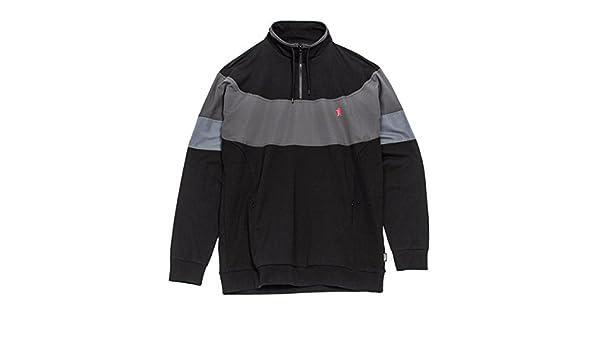 042b4f114 Grizzly High Post Half Zip Jacket - Black: Amazon.co.uk: Sports & Outdoors