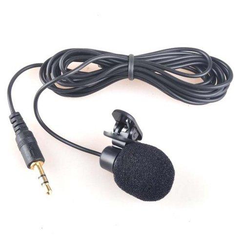 SODIAL 3.5mm Mini Micrófono de Computadora con Clip