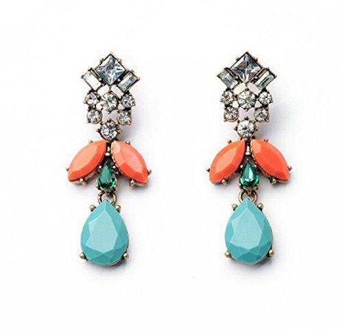 Glitz Shining Kollektion Diva Party Wear Lange Ohrringe für Mädchen Fancy ()