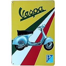 Doitsa 1x Cartel de Chapa Placa Metal, Tin Sign Petite Moto, Estaño Pared Señal Placa para Bar Decoración Retro