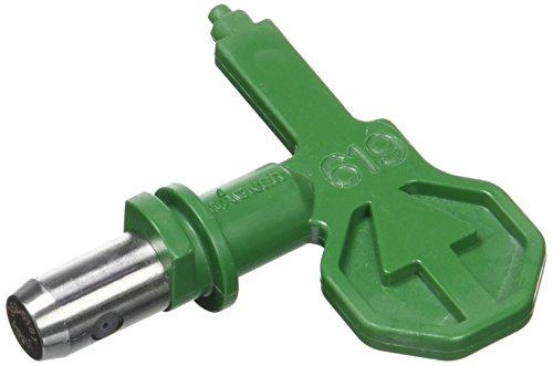 Wagner ControlPro HEA Düse 619 für ControlPro Airless Spritzgeräte für Latexfarben, Dispersionen, Rostschutzfarben, 55% weniger Sprühnebel, grün