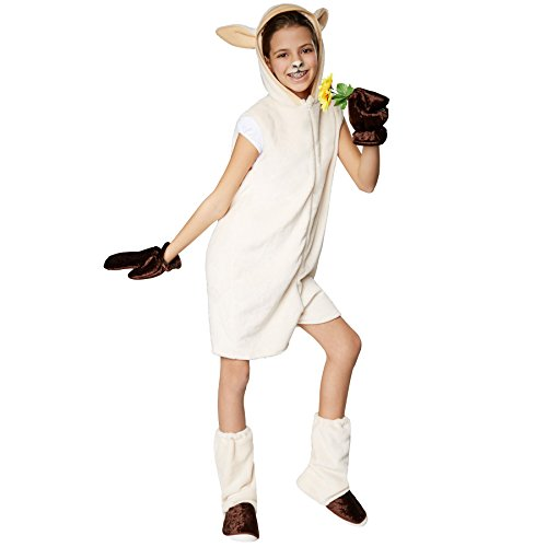 TecTake dressforfun Kinderkostüm Schaf | Süßes, Flauschiges Schafkostüm -
