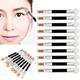 Creazy(TM)-10Pcs-Makeup-Double-end-Eye-Shadow-Eyeliner-Brush-Sponge-Applicator-Tool