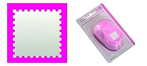 EFCO 1.8 x 1.8 cm Medium Postage Stamp Punch, Pink