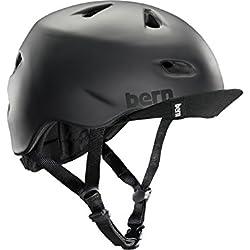 Bern Brentwood Zip Mold - Casco para hombre para bicicleta BMX, color negro ( 60 - 63 cm )