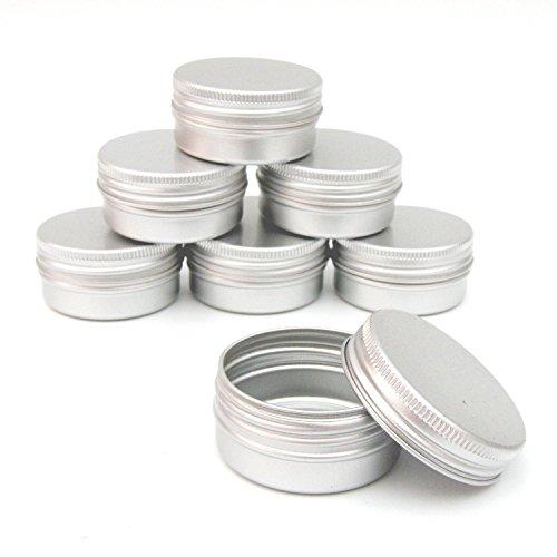 10x-aluminium-jar-pot-tin-container-15ml-for-nail-art-makeup-cosmetic-travel-creams-lip-balm-tattoos