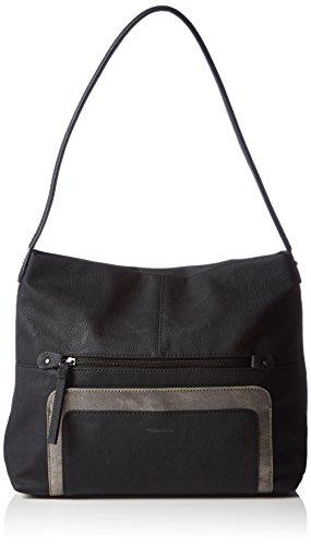 Tamaris  LIDIA Hobo Bag, Sacs portés épaule femme Noir - Schwarz (black comb 098)