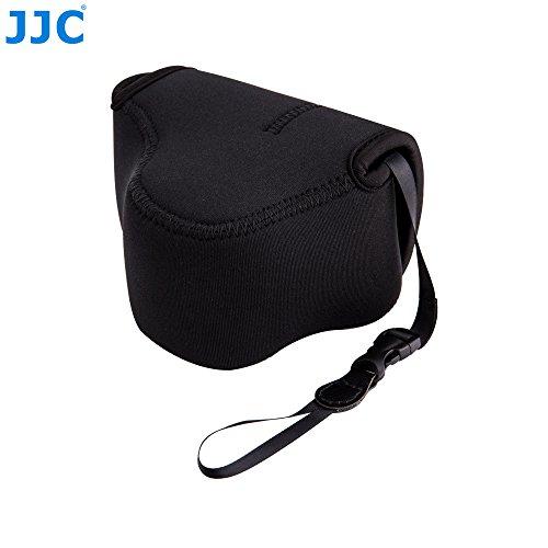 JJC OC-F1BK Black Neoprene Mirrorless Camera Case for Sony, Canon, Olympus, Fujifilm, Samsung, Panasonic, etc. (Fits Camera with Lens Size up to 127 x 85 x 84mm)
