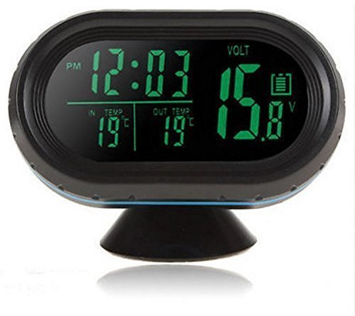 Preisvergleich Produktbild Mugen Power@4 in 1 LED screen Automotive Electronics luminous clock automotive thermometer temperature meter VST 7009v