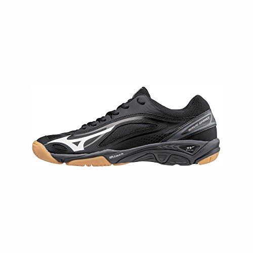 Mizuno Herren Wave Ghost Sneakers, Mehrfarbig Wht/Blk 001, 44.5 EU