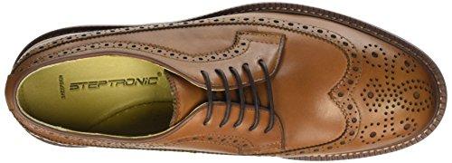 Steptronics Bugatti, Chaussures à Lacets Homme Marron - Cognac